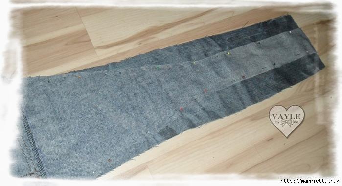 Как сшить жилет из старых джинсов (17) (700x380, 194Kb)