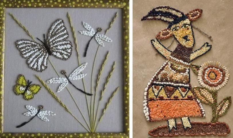 Картины из круп и семян своими руками фото 4