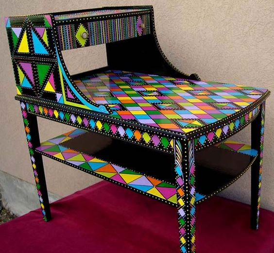 Декор старой мебели в технике декупаж