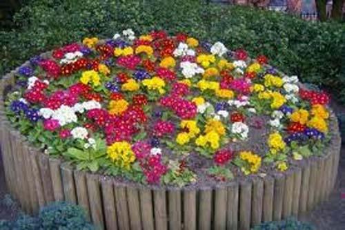 цветочная клумба своими руками
