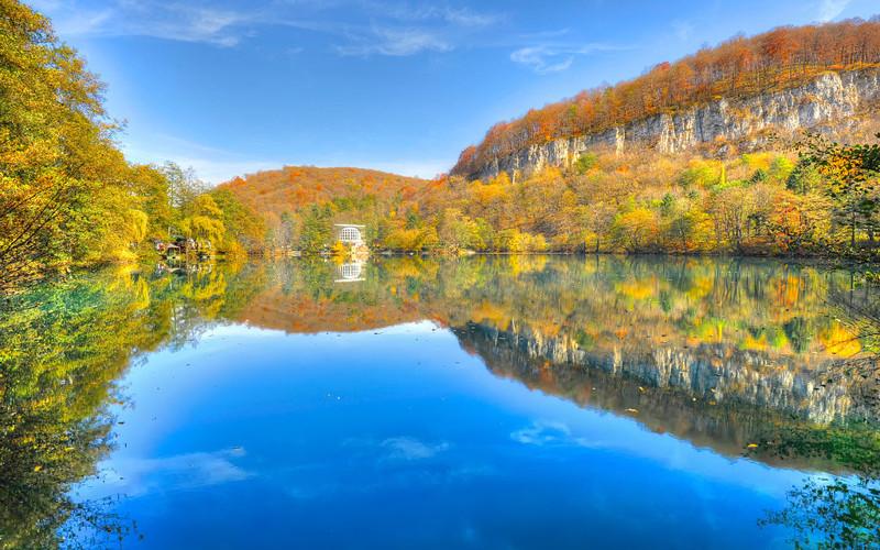 Голубое озеро (Кабардино-Балкария, Россия) наша планета, озера, самые опасные