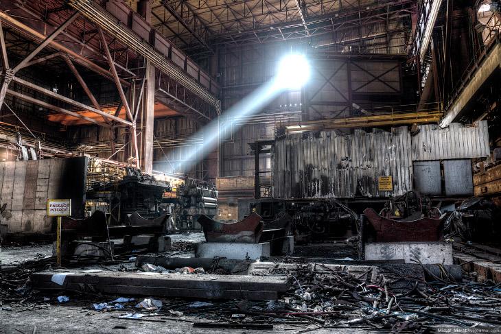 Прогулка по заброшенным заводам Бельгии