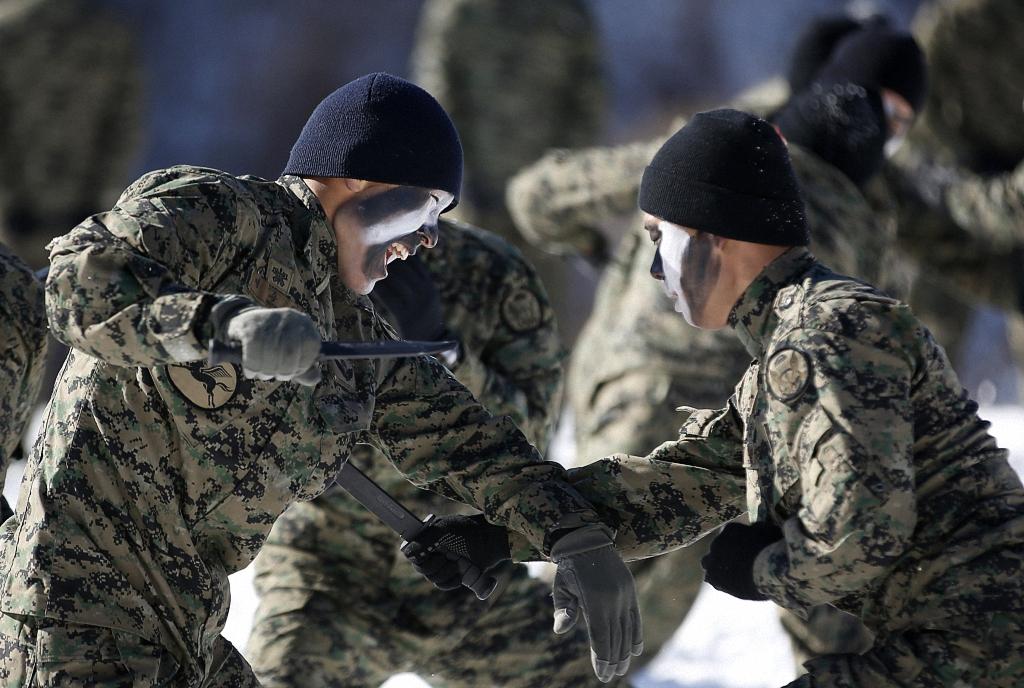 Зимние учения южнокорейского спецназа-15