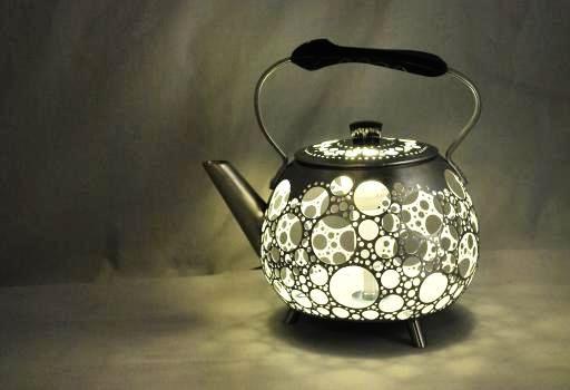 Оригинальный светильник из чайника своими руками