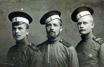 русские солдаты и унтер офицер Пехота