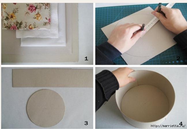 Коробка из картона круглая своими руками