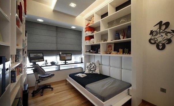 Спальное место + рабочий стол и много много полочек