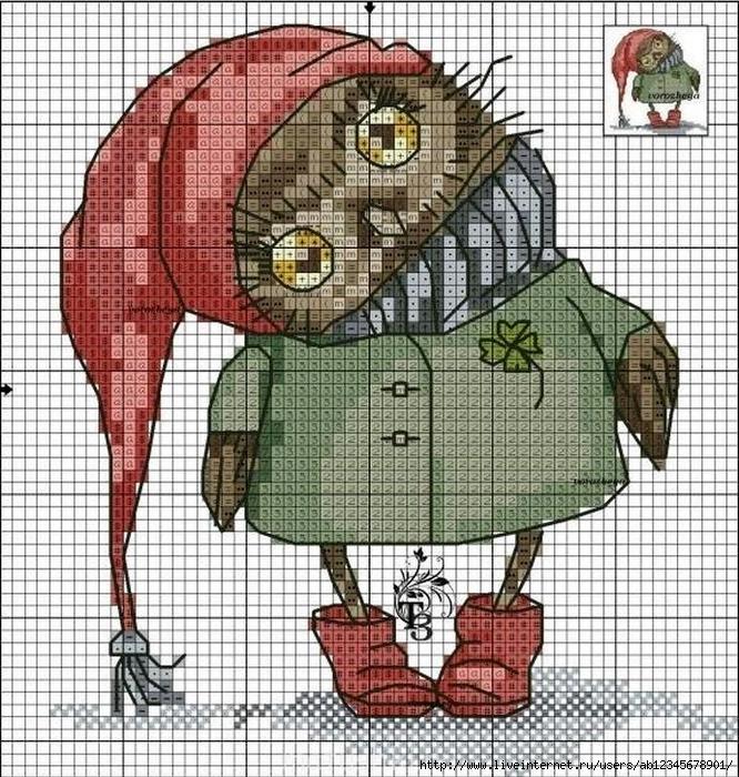 Вышивка совушек инги пальцер