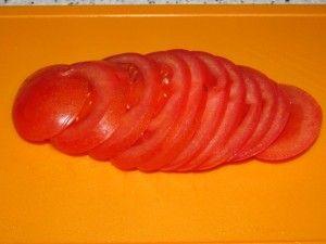 нарезка помидора