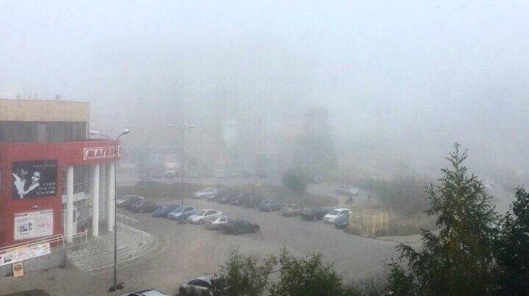 Густой туман и гололед обруш…