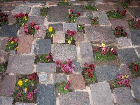 Как сделать вазон из камней и цемента на даче