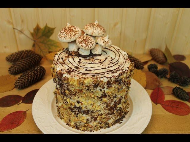 Вкусный торт Трухлявый пень