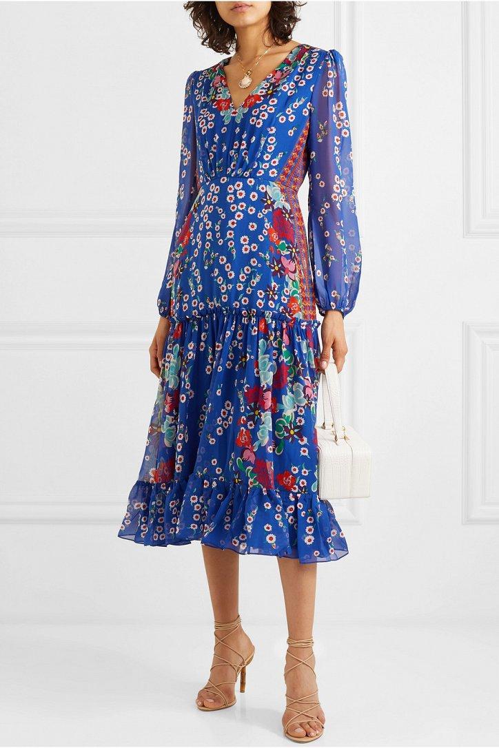 Платья с цветочным принтом - наш ответ серым осенним будням фото №12