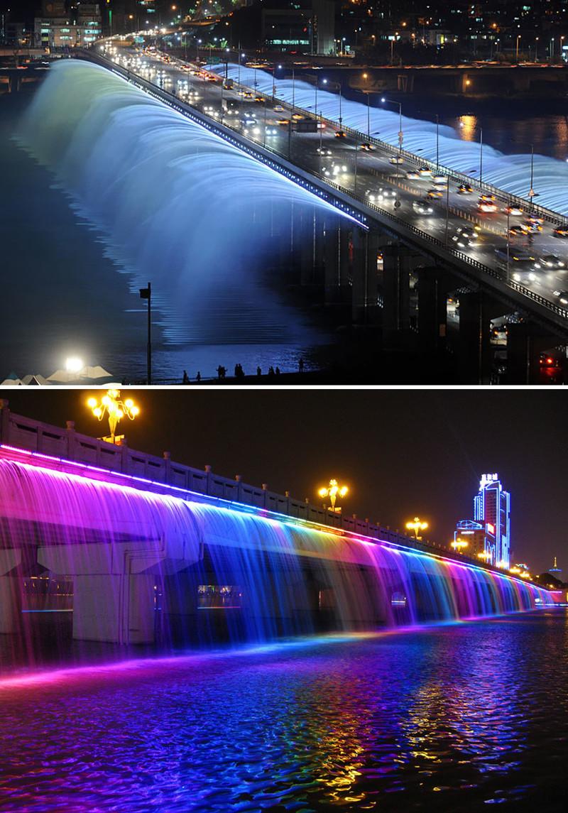 """""""Лунная Радуга"""", Сеул, Южная Корея город, достопримечательность, интересное, мир, подборка, страна, фонтан, фото"""