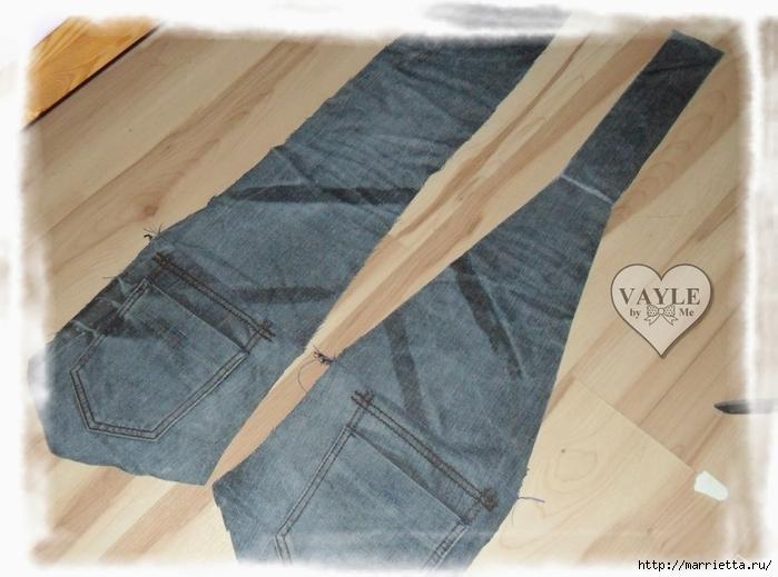 Как сшить жилет из старых джинсов (16) (700x519, 245Kb)