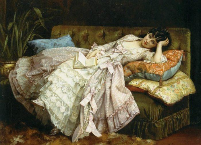 художник Огюст Тульмуш (Auguste Toulmouche) каротины -01