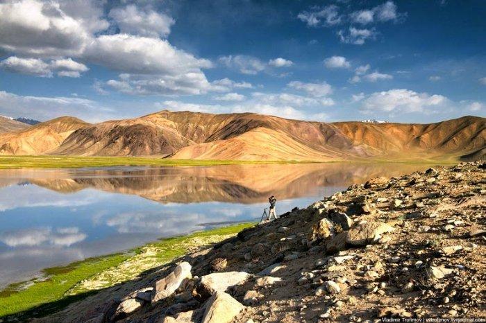 Черное озеро Каракуль