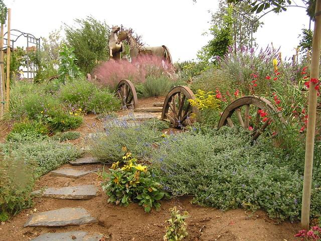 белье ландшафтный дизайн деревенского двора Размер