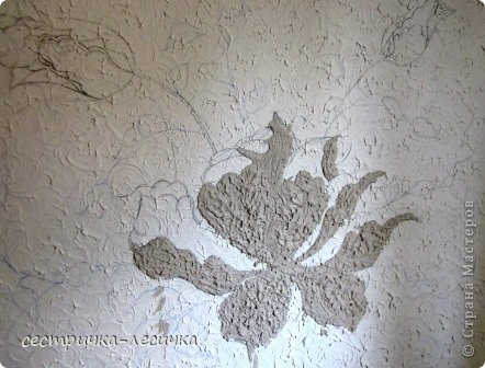 Интерьер Мастер-класс Лепка Лепка на стене №2 Бумага Гипс Краска фото 4