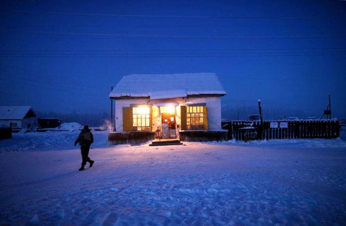 Единственный работающий магазин в Оймяконе./Фото: roomidea.ru
