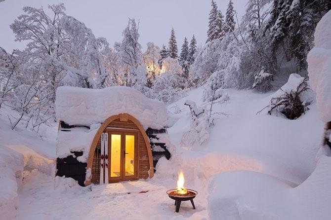 Зимний домик своими руками на даче