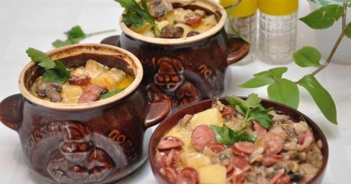 Белорусская жаренка — вкусное и ароматное блюдо в горшочке