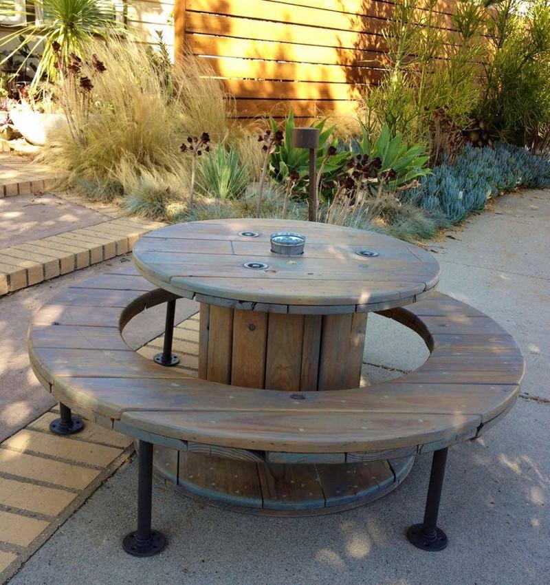 Как сделать садовую мебель из подручного материала