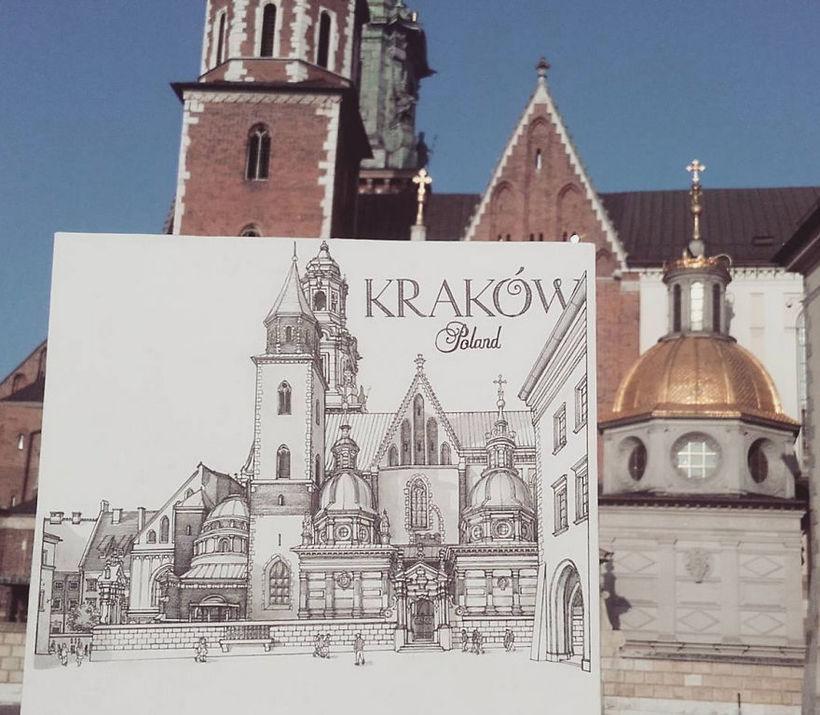 Австралиец путешествует по Европе и рисует каждый город, который посещает