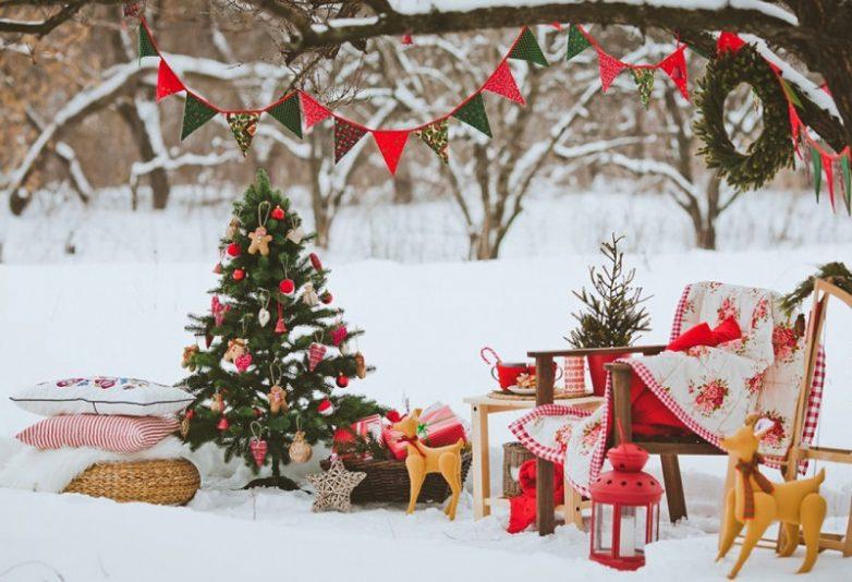 15 лучших идей украшения двора дома к Новому году!