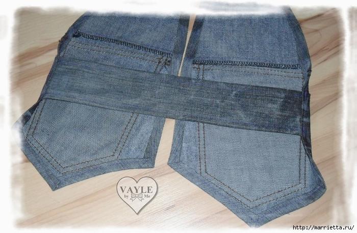 Как сшить жилет из старых джинсов (25) (700x457, 265Kb)