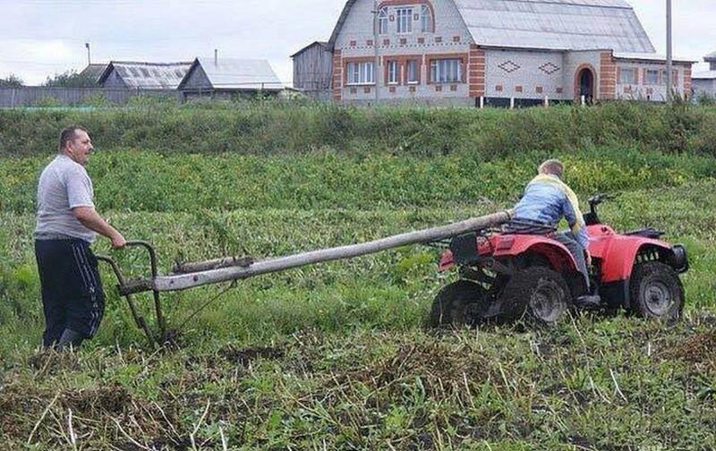 Сельский колорит: технологии будущего в российских деревнях деревенская романтика, деревня, село, смешно, технологии, фото