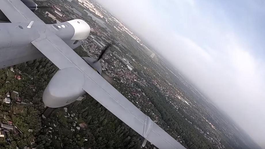 Первый полет российского БПЛА «Альтиус-У» - видео