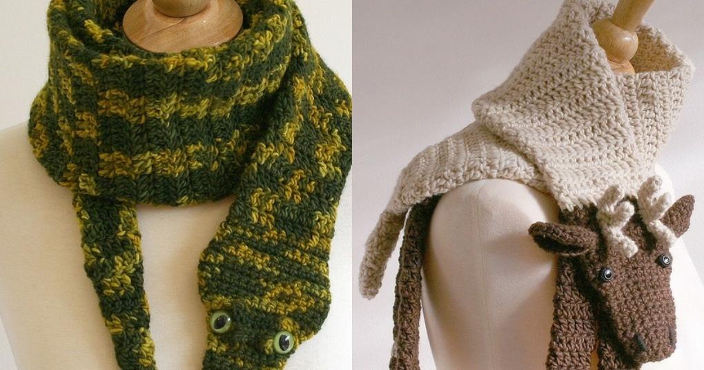 Необычные и невероятно уютные шарфы для взрослых и детей