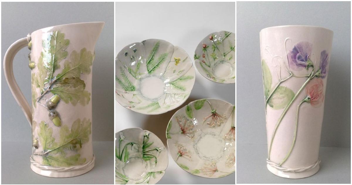 Керамика с природным акцентом: флористические мотивы в работах Sue Dunne