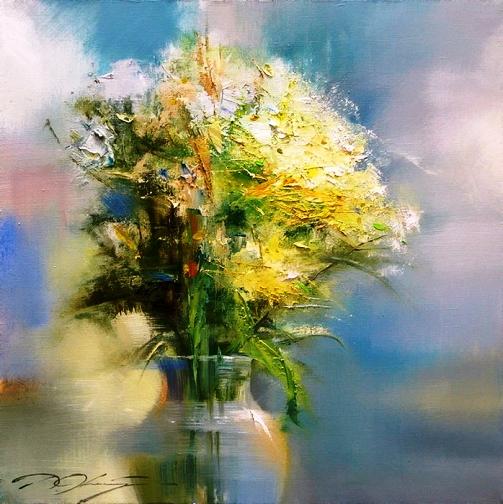 Цветы неземной красоты — нежнейшие натюрморты  Дениса Октября