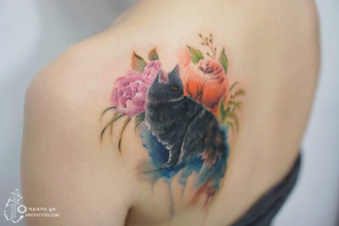 Татуировки, напоминающие акварельные рисунки