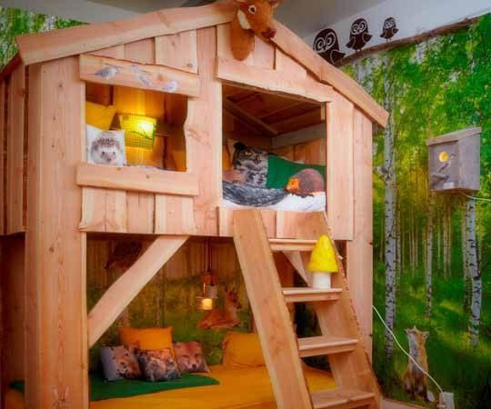 Детская комната-мечта: двухъярусные кровати-домики