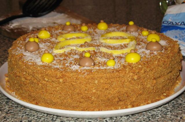 Торт медовый с заварным кремом пошагово