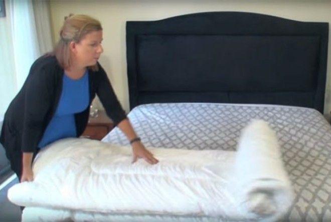 Как за секунды заправить одеяло в пододеяльник