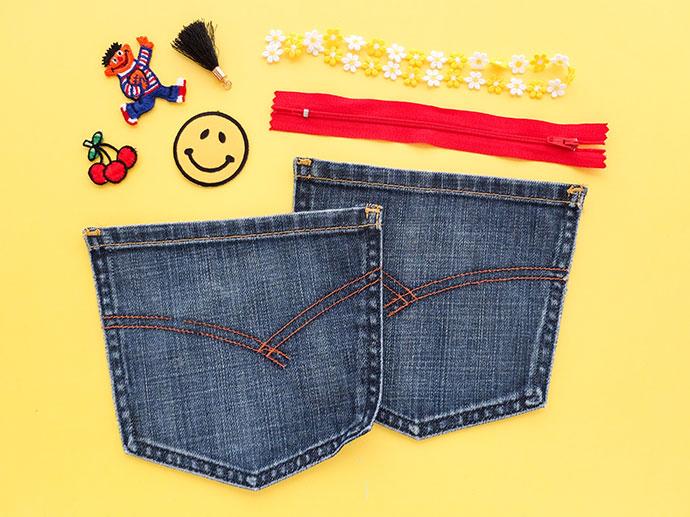 Из старого новое: косметичка из старых джинсов