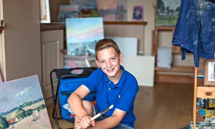 13-летний художник стал миллионером и получил прозвище мини Моне