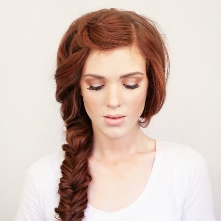 Как сделать коса на бок
