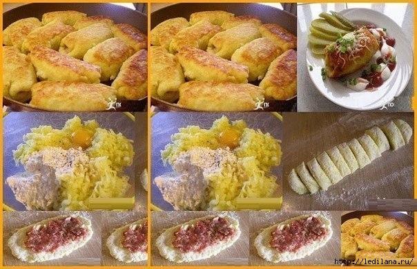 Картофельные рулетики с сыром