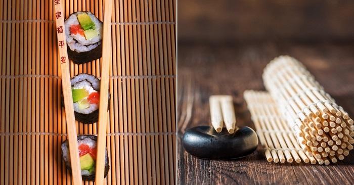 Суши съедаю, а палочки береж…