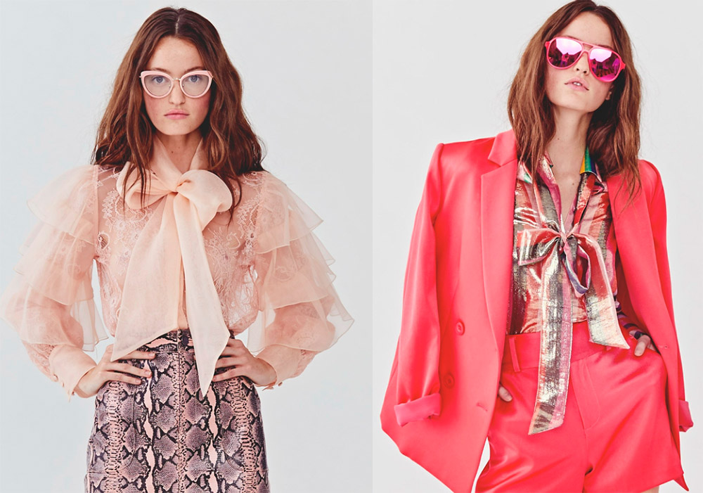 Модные блузки и юбки с бантами 2018