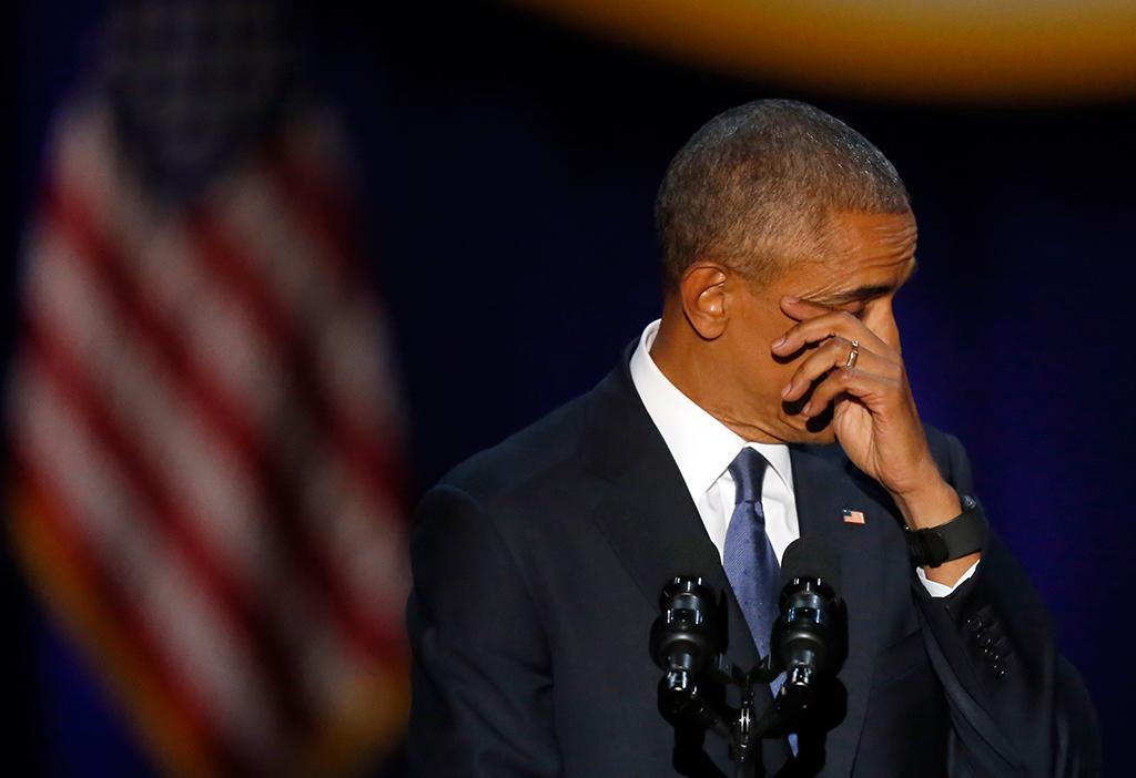 В Москве слезам не верят: Прощальная, слезная речь Обамы