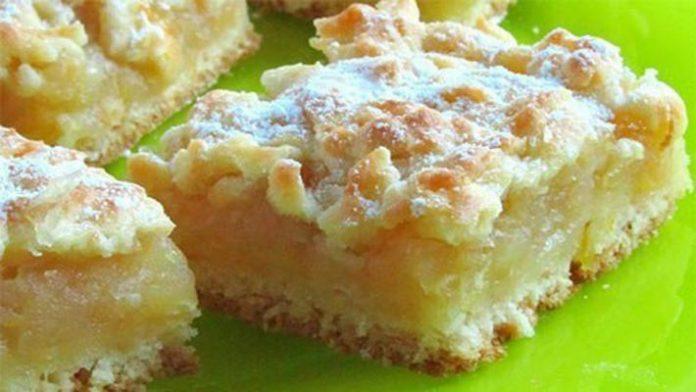 Домашний пирог с сочной лимонно-яблочной начинкой