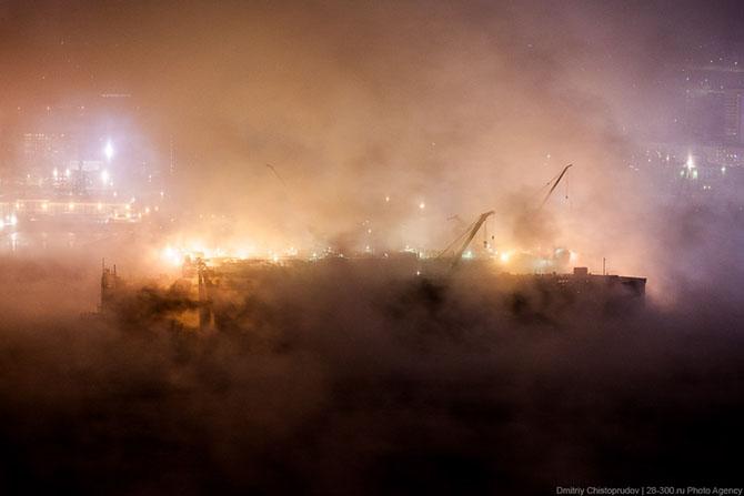 Ночная прогулка по самому крупному промышленному городу Заполярья