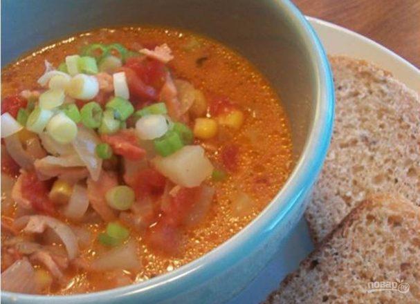 Суп рыбный из горбуши (из консервы)
