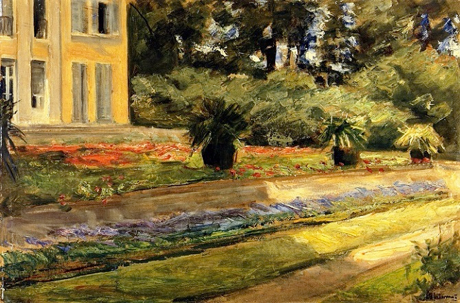 The Terrace in the Garden on Wannsee toward the Northwest, with the Villa on the Left. 1924 (669x442, 477Kb)
